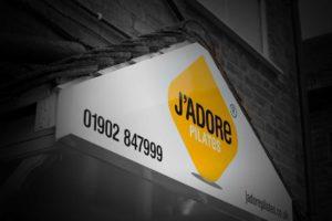 Exterior Signage for J'Adore Pilates