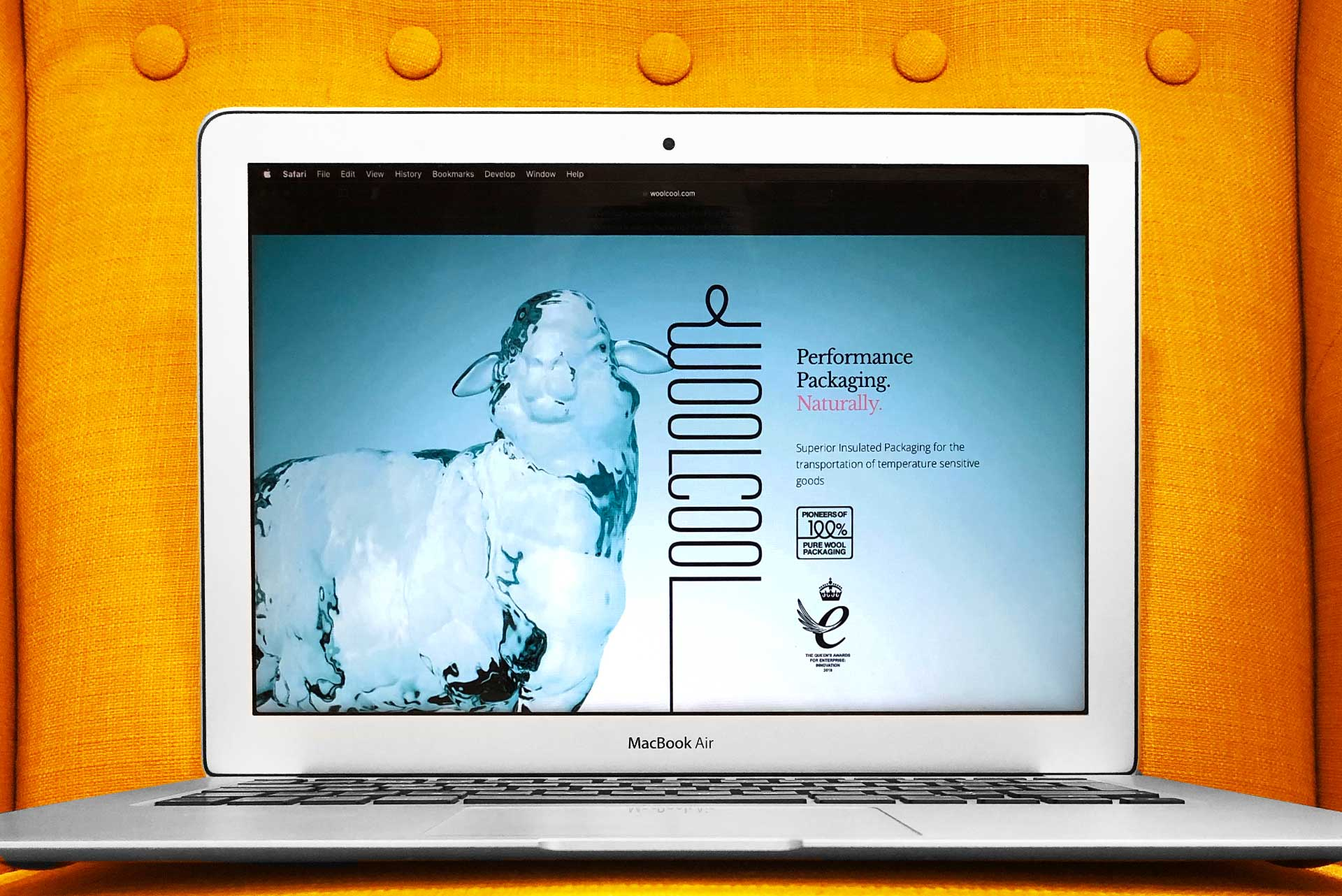 Laptop with Woolcool Website