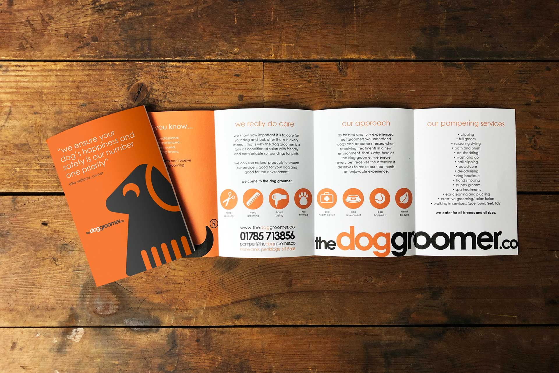 Services Leaflet for The Dog Groomer
