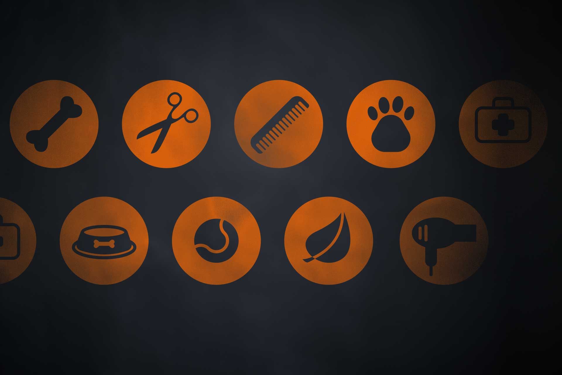 Service Icons for The Dog Groomer