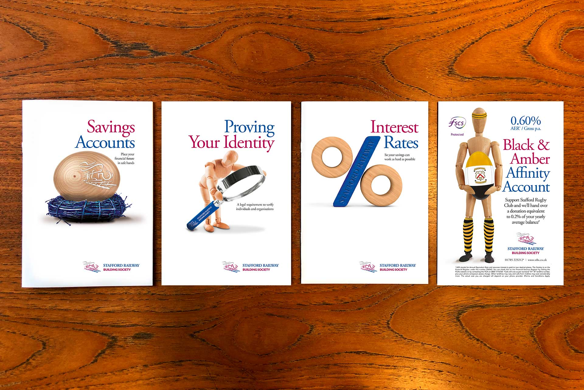 Product Posters for Stafford Railway Building Society
