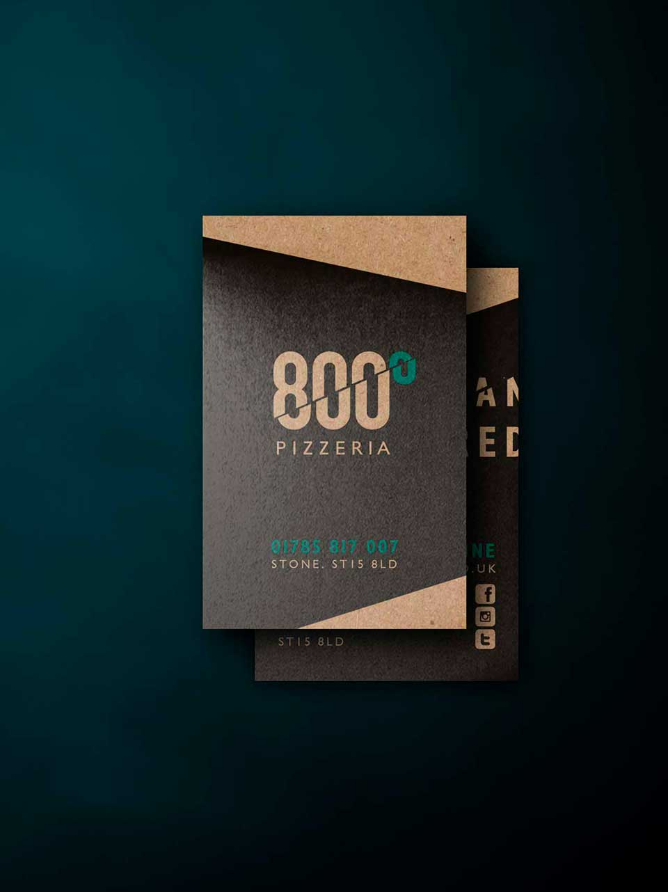 Business Cards for 800 Degrees Pizzeria