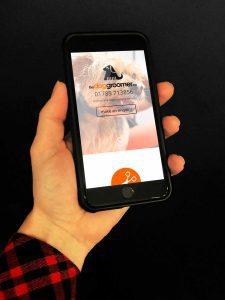 Mobile Website at The Dog Groomer