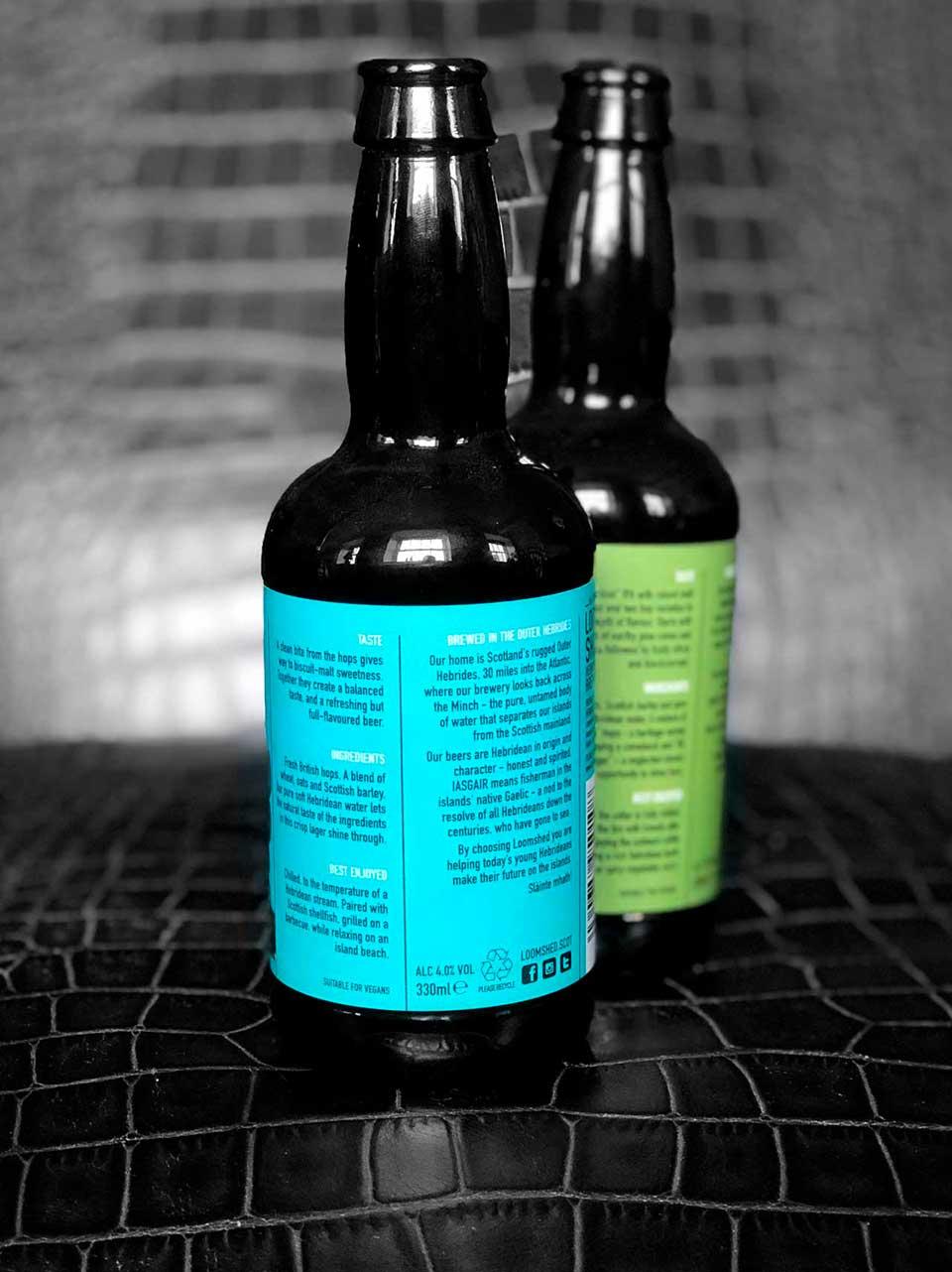 Beer Bottle labels for Loomshed