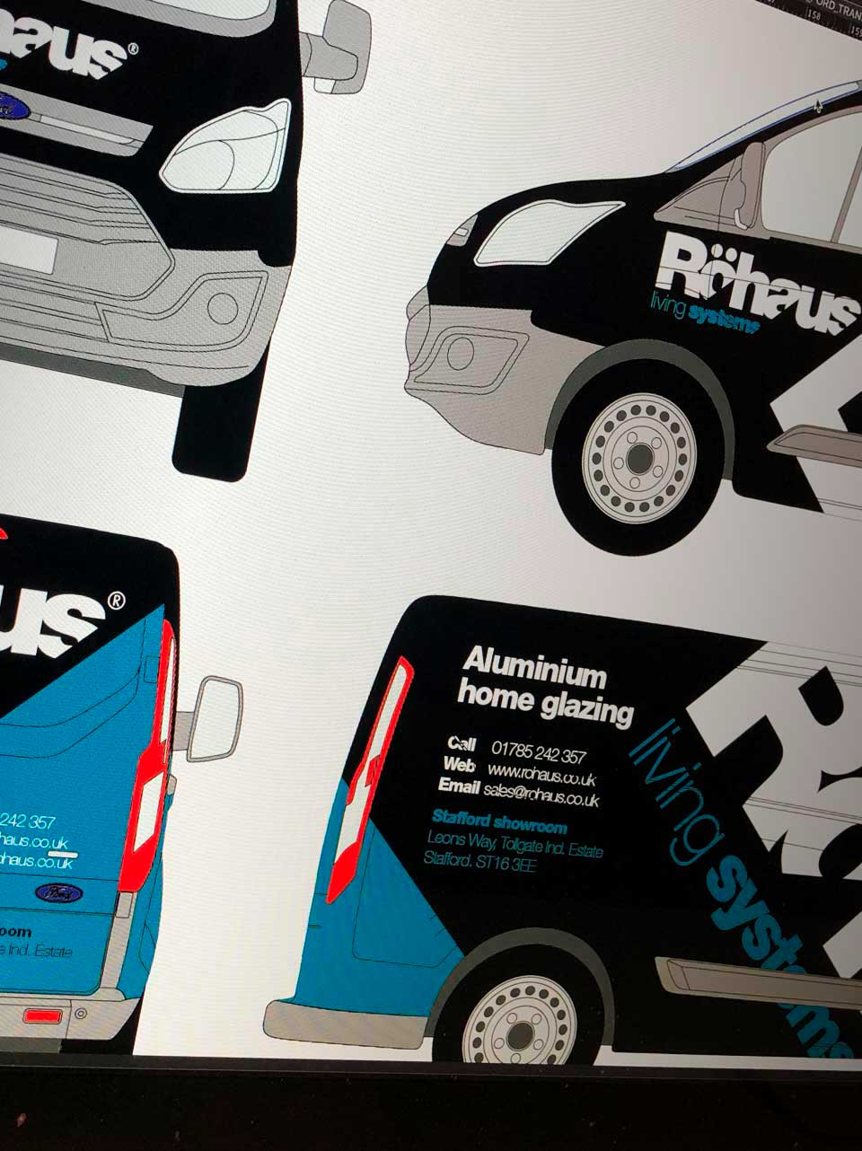 Vehicle Livery Design for Rohaus