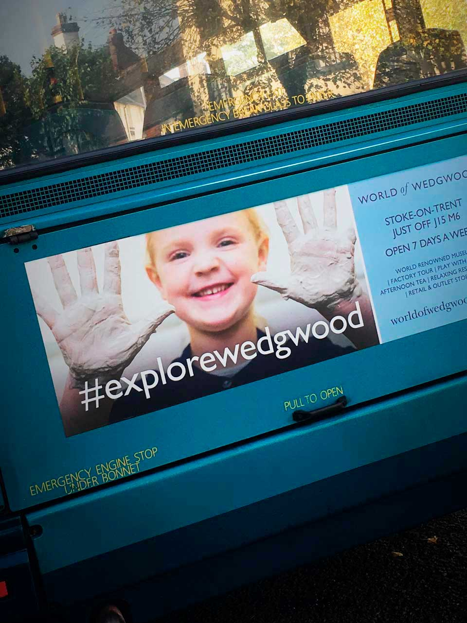 Bus Advertising for World of Wedgwood