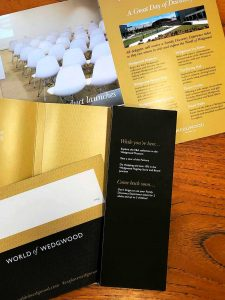 Marketing Literature for World of Wedgwood