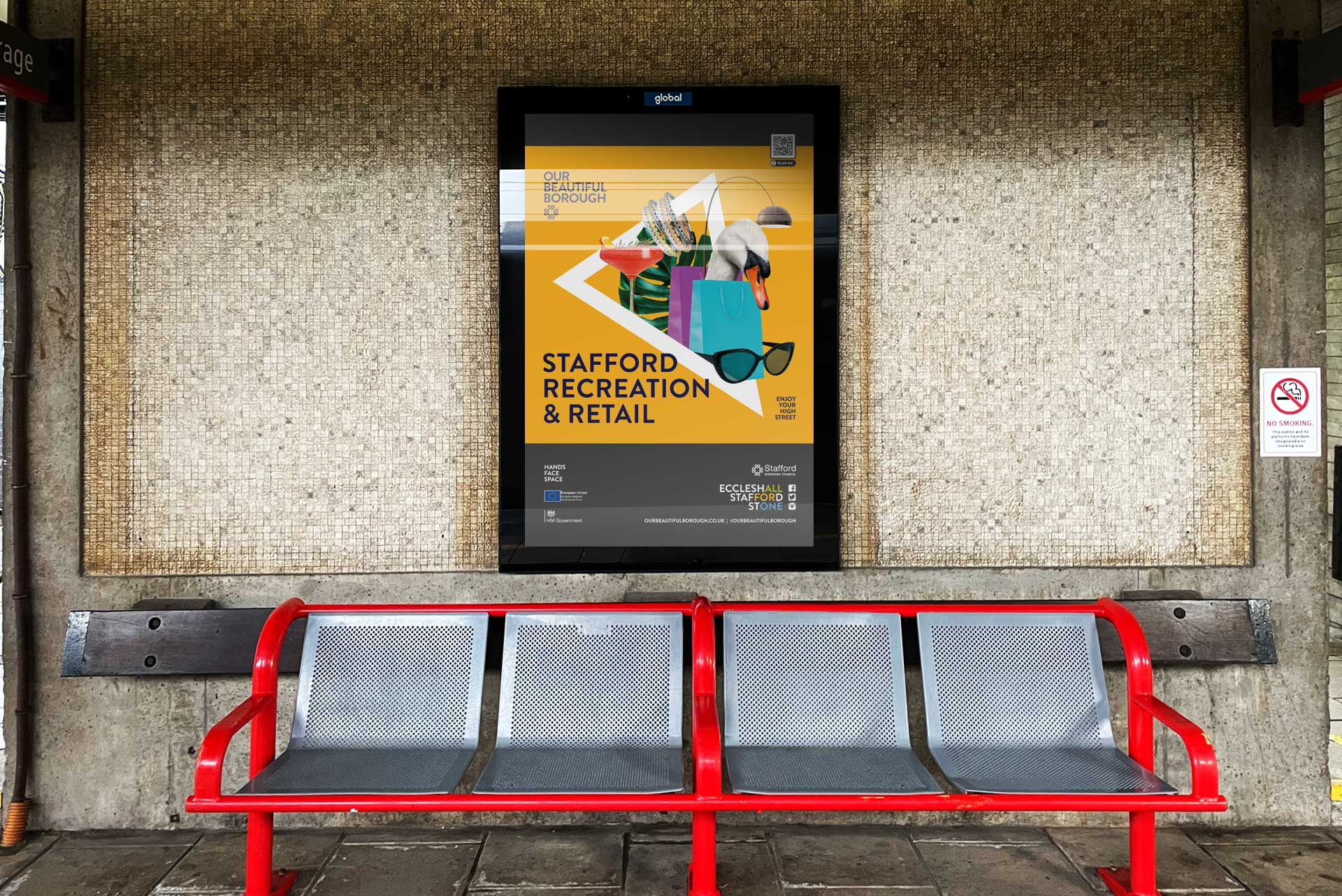 Advert at Stafford Railway Station