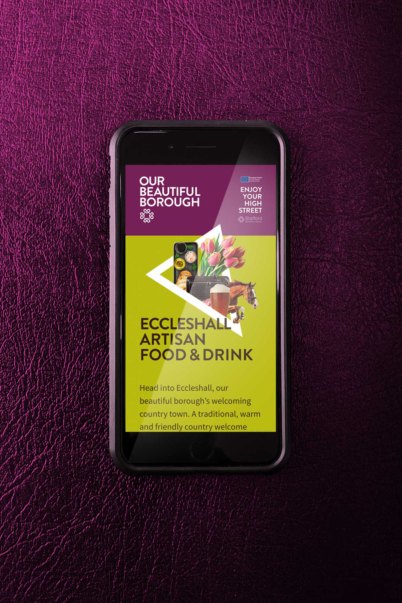 Website on Mobile for Our Beautiful Borough