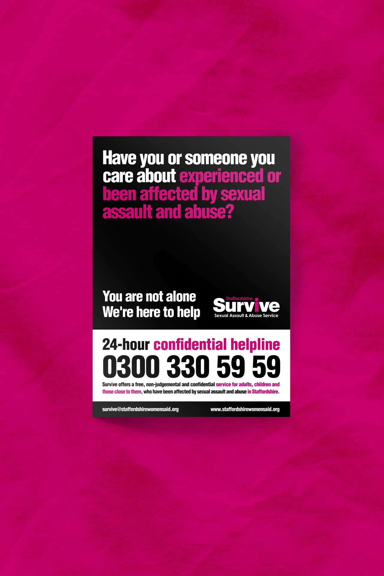 Survive Identity and Leaflet for Staffordshire Women's Aid